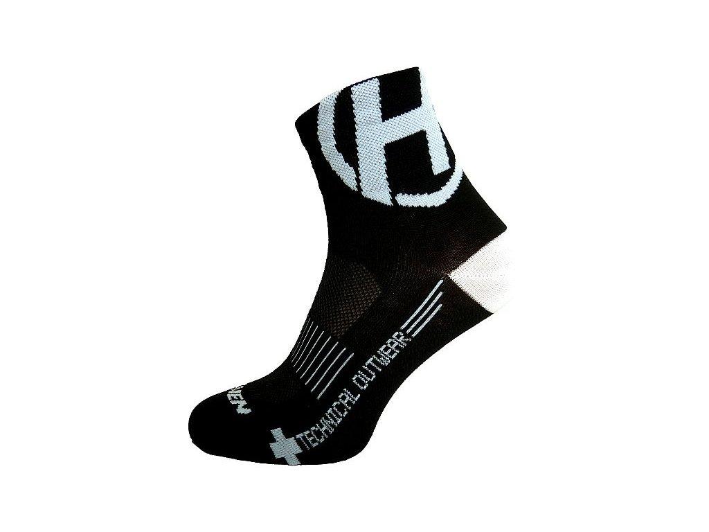 Ponožky HAVEN LITE Silver NEO black/white 2 páry vel.