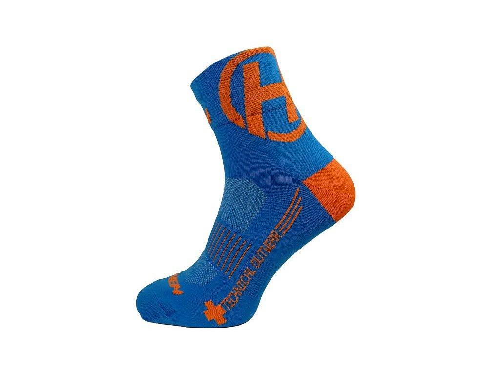 Ponožky HAVEN LITE Silver NEO blue/orange 2 páry vel.