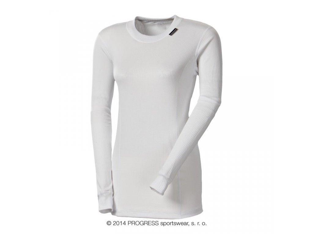 triko dlouhé dámské Progress NDRZ bílé