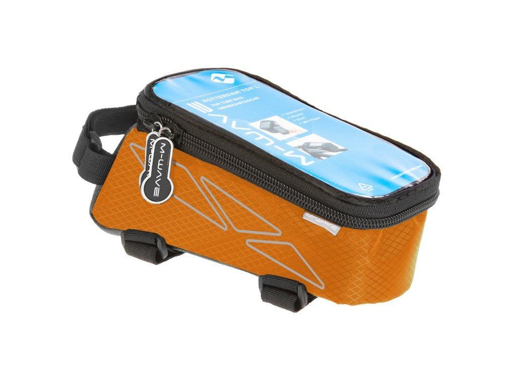 brašna M-WAVE přední na mobil L oranžová