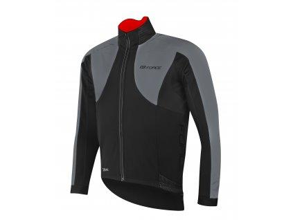 bunda FORCE X100 zimní, černo-šedá