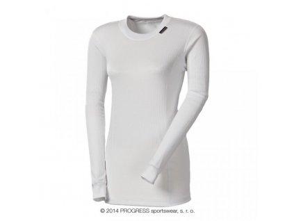 triko dlouhé dámské Progress MS NDRZ bílé