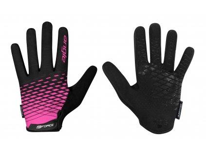rukavice FORCE MTB ANGLE letní, růžovo-černé