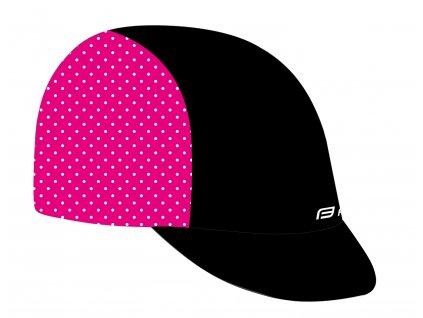 čepička s kšiltem F POINTS letní,černo-růžová