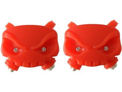 blikačky MAX1 Lebka sada 2 ks červené