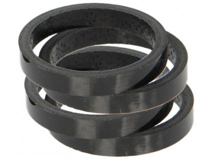 "spacer A-H 1 1/8"" 3mm carbon černý 5ks"