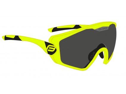 brýle FORCE OMBRO PLUS fluo mat., černá skla