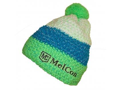 Čepice MelCon pletená zeleno-bílá Uni