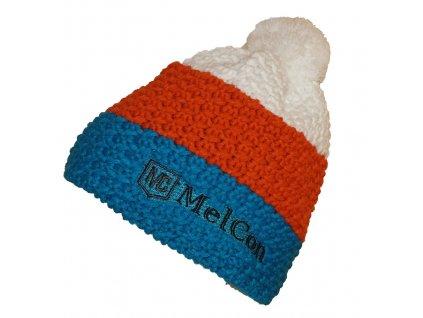 Čepice MelCon pletená Modro - bílá Uni