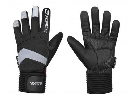 rukavice zimní FORCE WARM, černé