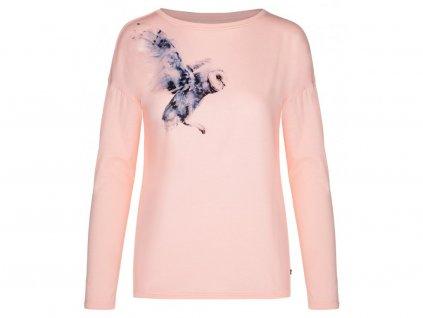 triko dlouhé dámské LOAP ALABA růžové