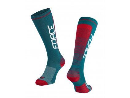ponožky F COMPRESS, petrolejovo-červené