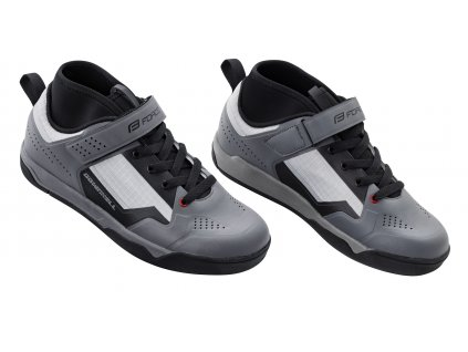 boty FORCE DOWNHILL, šedo-černé