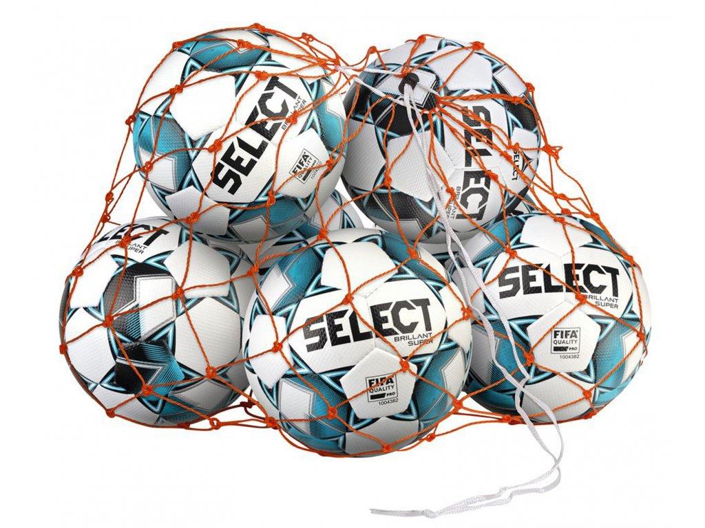 Síť na míče Select Ball net 10-12 balls oranžová