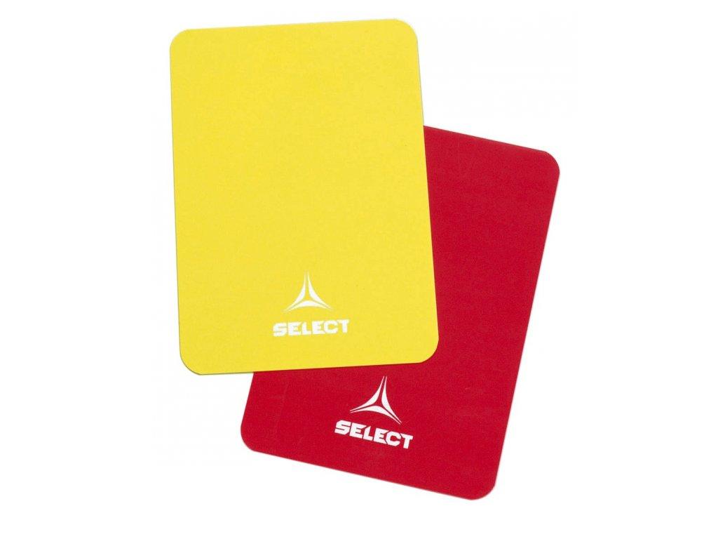 Karty pro rozhodčí Select Referee cards červeno žlutá