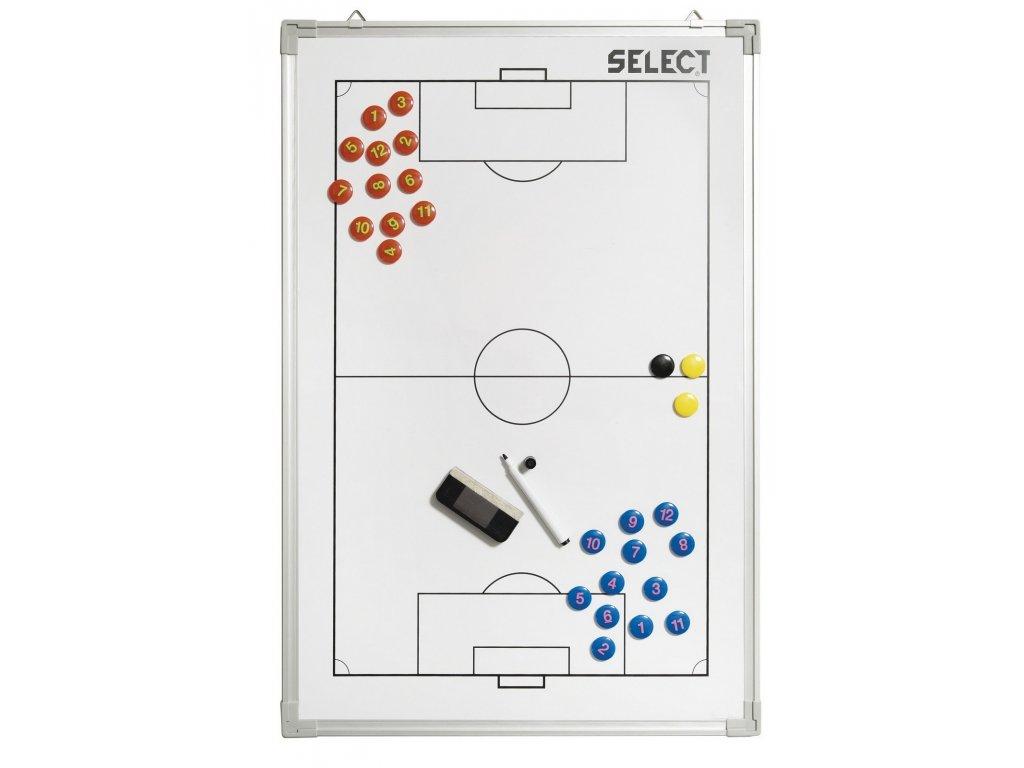 Taktická tabule Select Tactics board alu football bílá