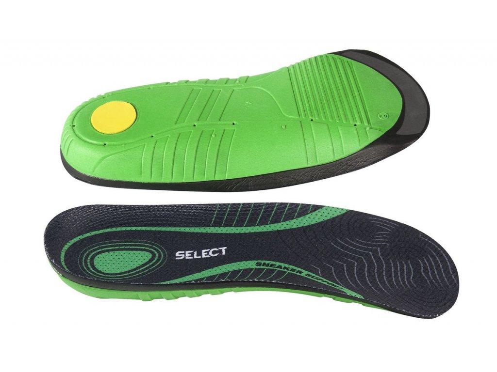 Vložky do bot Select Sneaker Support zeleno černá