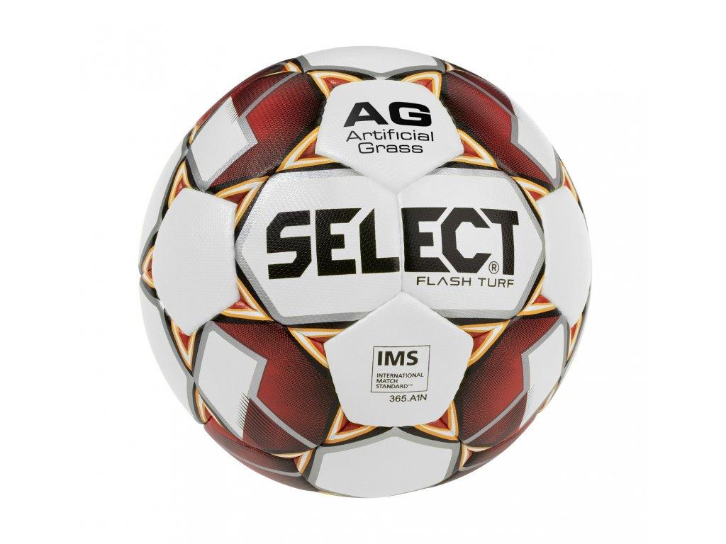 Fotbalový míč Select FB Flash Turf bílo červená