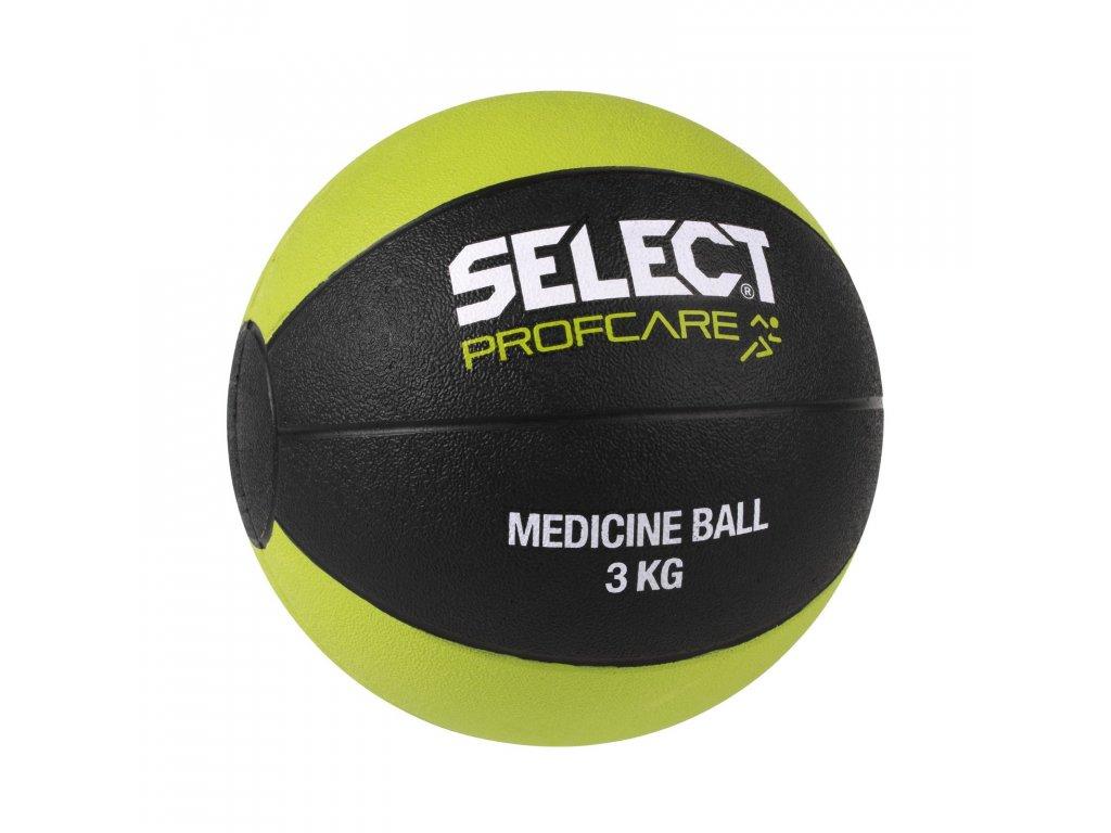Těžký míč Select Medicine ball 3kg černo zelená