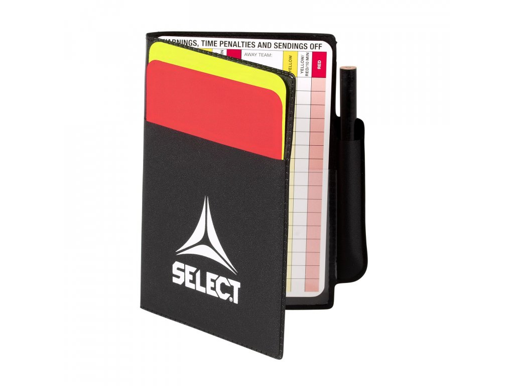 Karty pro rozhodčí Select Referee card set including yellow/red multicolor