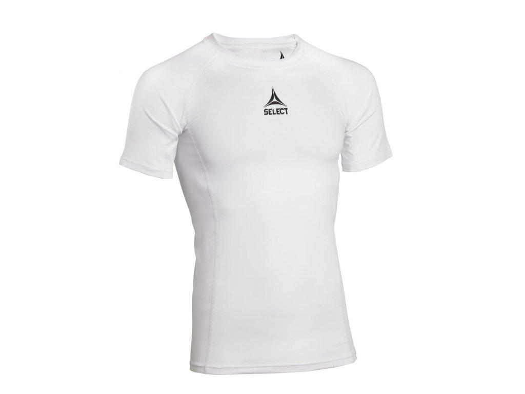 Kompresní triko Select Shirt S/S Baselayer bílá