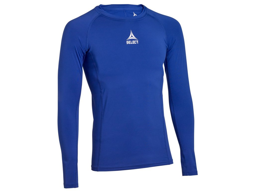 Kompresní triko Select Shirts L/S Baselayer modrá