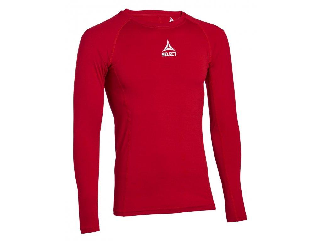 Kompresní triko Select Shirts L/S Baselayer červená