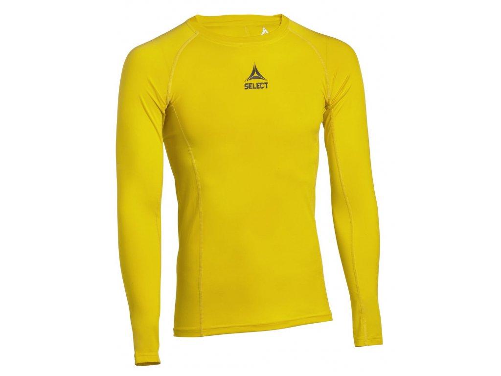Kompresní triko Select Shirts L/S Baselayer žlutá