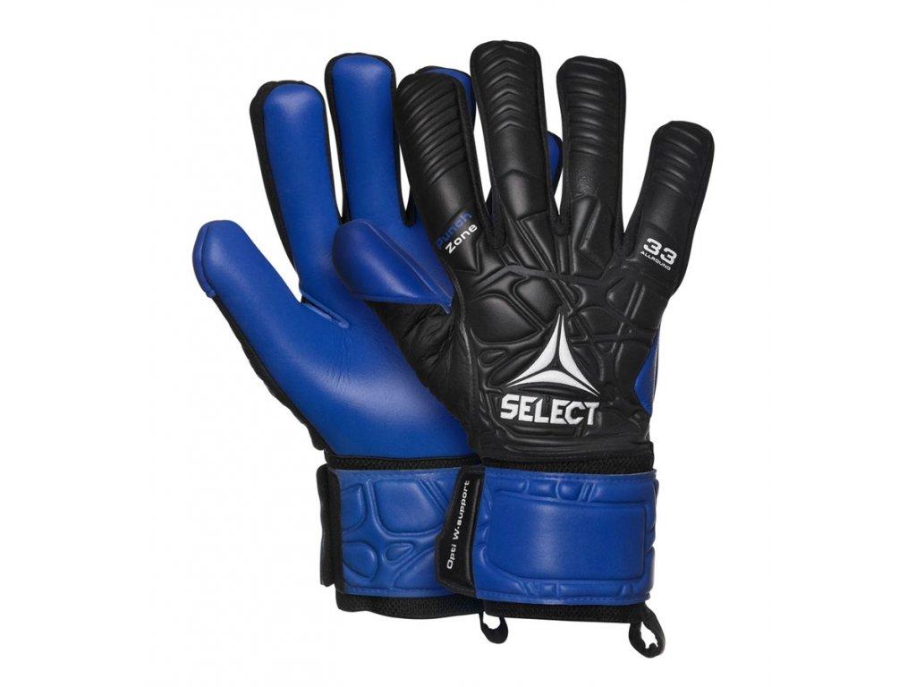 Brankářské rukavice Select GK gloves 33 Allround černo modrá