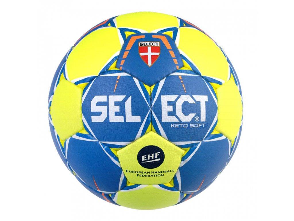 Házenkářský míč Select HB Keto Soft žluto modrá