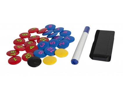 Magnety pro taktickou tabuli Select Magnet set 23 ks assorted
