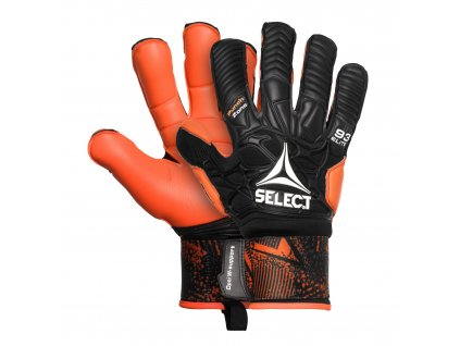 Brankářské rukavice Select GK gloves 93 Elite Hyla cut černo oranžová