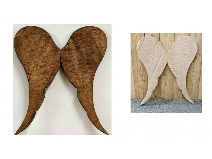 Dřevěná andělská křídla lásky