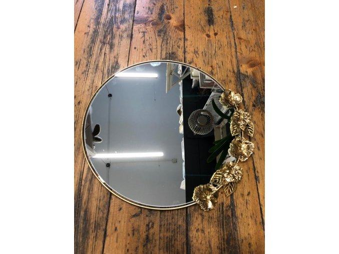 Kovové kulaté závěsné zrcadlo