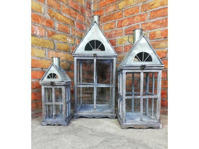 Plechové domečkové lucerny