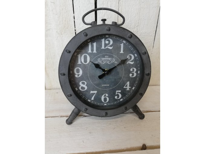 Stolní kovové hodiny