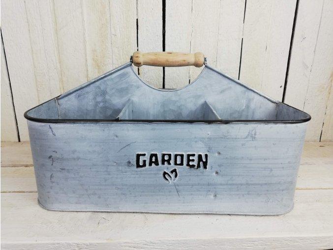 Zahradní šedý organizér