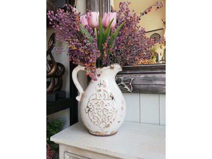 Krémový keramický džbán