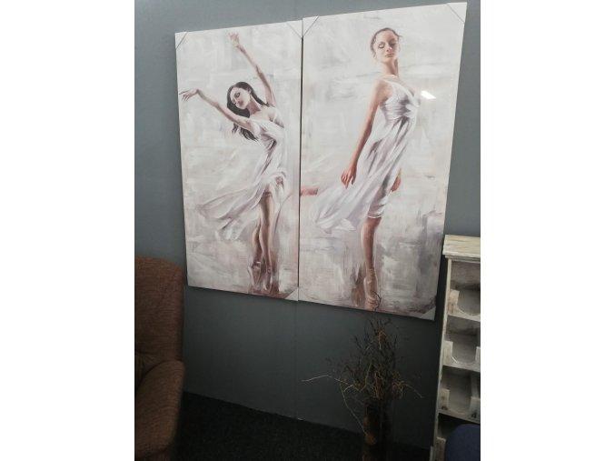 Baletka na plátně