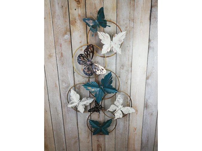 Kovová dekorace Let motýlů