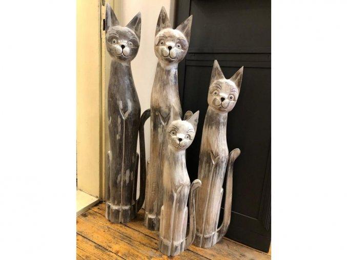 Volně stojící kočka jako dekorace