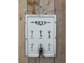 Plechová tabulka na klíče