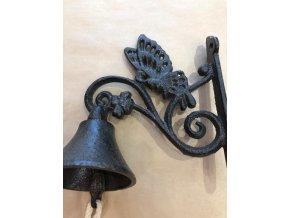 Litinový zvonek s ornamenty