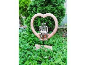 Mangová dekorace srdce