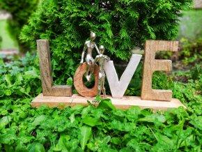 Mangová dekorace LOVE