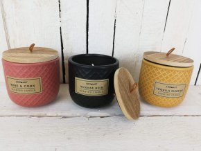 Sada vonných svíček v keramickém obalu