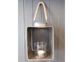 Kovová lucerna na svíčku