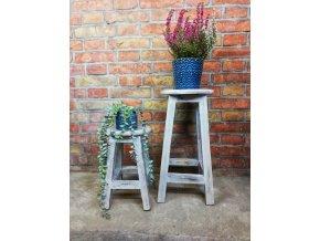 Kulatý květinový stolek Vintage