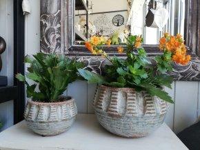 Sada keramických květináčů