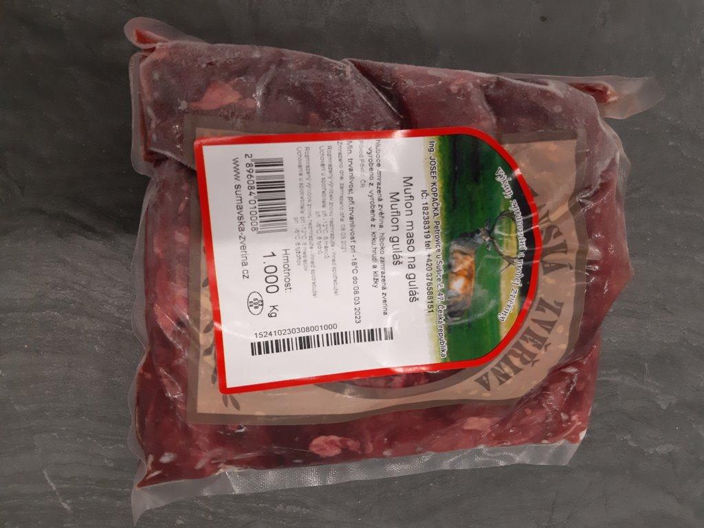 Mufloní maso na guláš 1